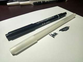 White gel ink pen (FREE spidol hitam)