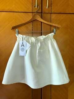 韓國正品ALAND白色短裙