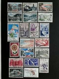 France vintage stamps#1