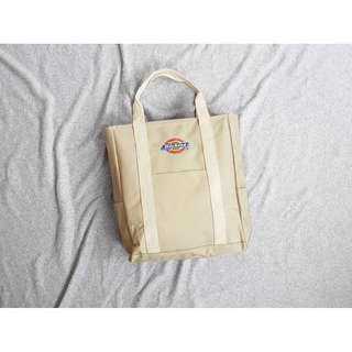 Dickies logo 經典卡其配色 美式休閒 多功能 托特包 單肩包 附背帶後背包