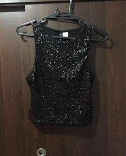 H&M glittery crop top