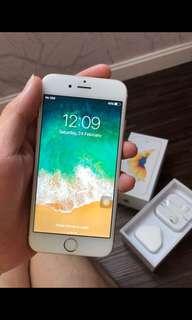 Iphone 6s 64Gb gold ex singapore mulus