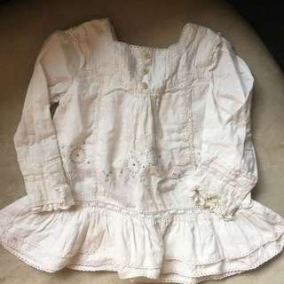 Baby Girl Monsoon Lace Top 12-18