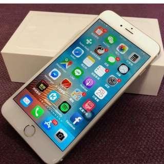九成九新Apple iPhone 6 Plus 64GB 香檳金 金色 5.5吋大螢幕 Apple蘋果手機 全套盒裝均在