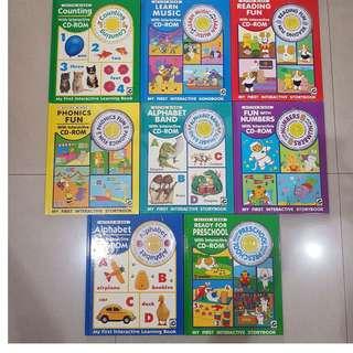 Buku anak2 ACTIVE MINDS komplit 1 set isi 8 buku