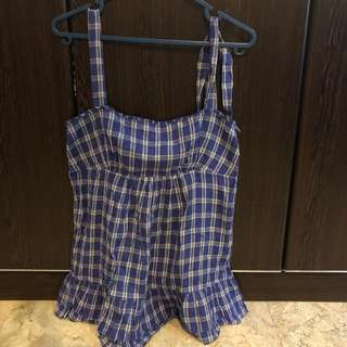 MNG checkered top