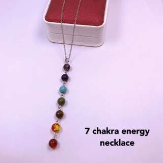 7 chakra energy necklace