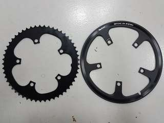 Tyrell 56T chain guard with 53T chainring