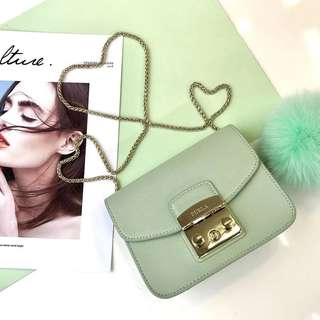Furla Metropolis latest pastel fur ball collection - green