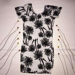 PALM TREE COTTON DRESS