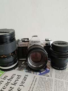 Canon AT-1 + 3 Lens