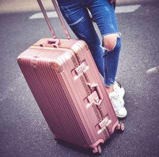 Rose Gold Aluminium Alloy Luggage Classic Series