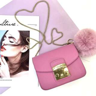 Furla Metropolis latest pastel fur ball collection - pink
