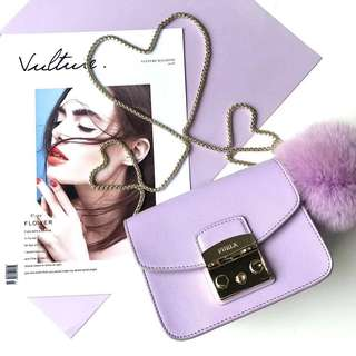 Furla Metropolis latest pastel fur ball collection - purple