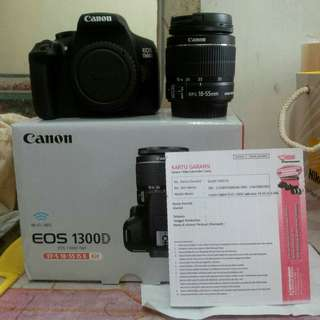 Kamera Canon 1300D Bisa Kredit Proses 3 Menit! Tanpa DP, bunga 0,99%