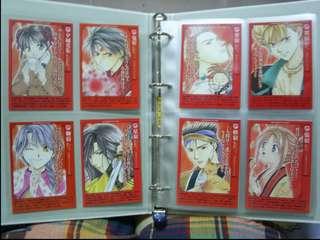 渡瀨悠宇-夢幻遊戲增刊角色人物設定卡(朱雀。青龍。玄武共12張)