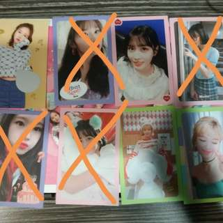 WTS/WTT TWICE What is Love Photocards/Stickers, Pre-Order Benefits