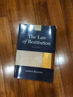 The Law of Restitution Andrew Burrows