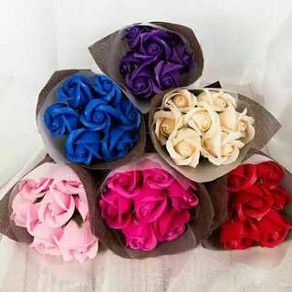 Free shipping Rose soap flower bouquet valentines convocation graduation day love gift present