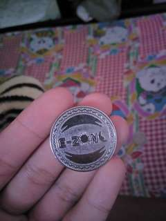 E zone coin , China coin and old one dollar Singapore note