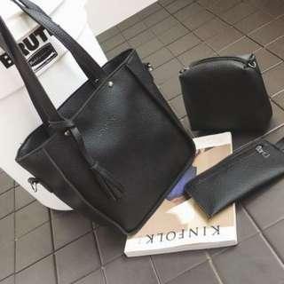 3in 1 korean bag  design2 black