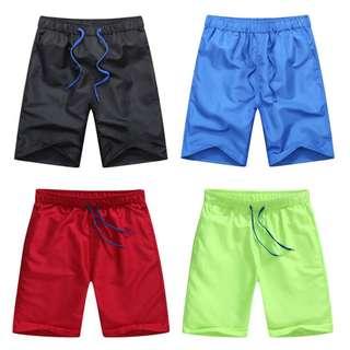 [Ready Stock] Men's Plain Boardshorts Beach Surf Swim Shorts