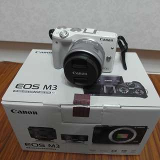 【出售】Canon EOS M3 +15-45mm 微單眼相機 彩虹公司貨 盒裝完整 9.5成新