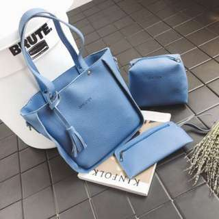 3in 1 korean bag  design2 blue