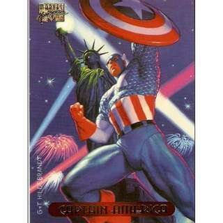1994 Marvel Masterpieces Base Card #18 - Captain America