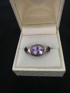 Designer Amethyst & Tourmaline Stone Ring