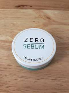 Etude House Zero Sebum loose powder