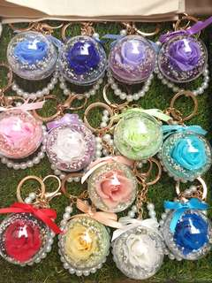 Everlasting roses bag charms