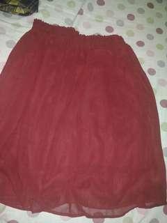 Rok flare maroon