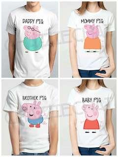 Peppa Pig Family Shirt💞Customized
