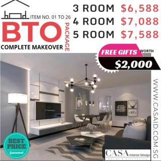 📣 BTO 3/4/5 Room Renovation Package