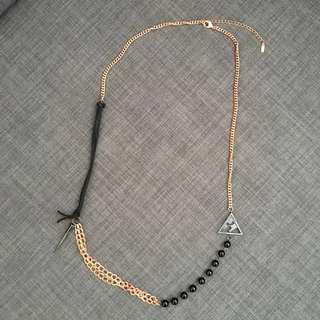 Black and rose gold necklace (free delivery!)