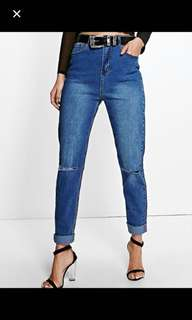 Tall high waisted Mom/BF jeans