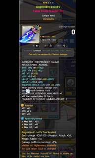 MapleSEA Aug Lucid Fafnir Desperado