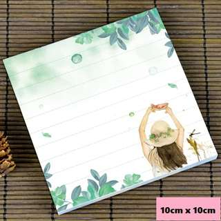 Carefree girl scenic / watercolour notepad #7