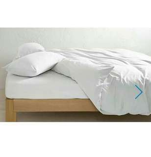White Linen Doona Cover King