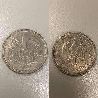 [收藏品]1馬克1981年德國deutsche mark