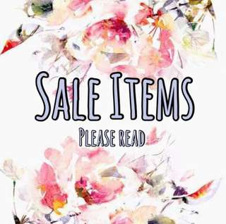 Sale reminders please take time to read
