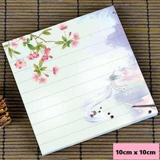 Lavender blossoms scenic / watercolour notepad #8