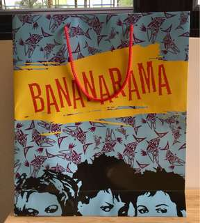 Bananarama collectors item paper bag