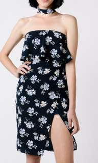Flower Choker Dress