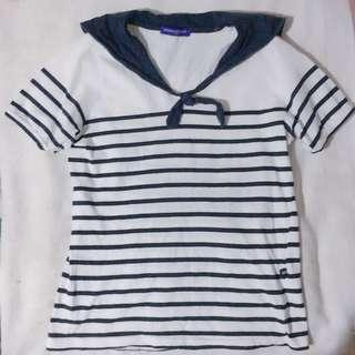 Stripe Sailor Top