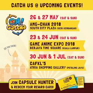 [INFO] Catch Oh! Gatcha at these Upcoming Events
