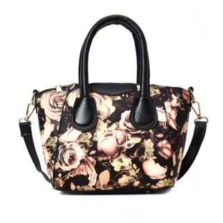 floral and butterfly sling bag