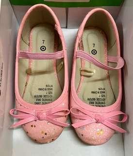 Sparkly Pink Girls Ballet Flats - Size 7