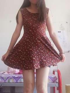 Vintage floral cute dress